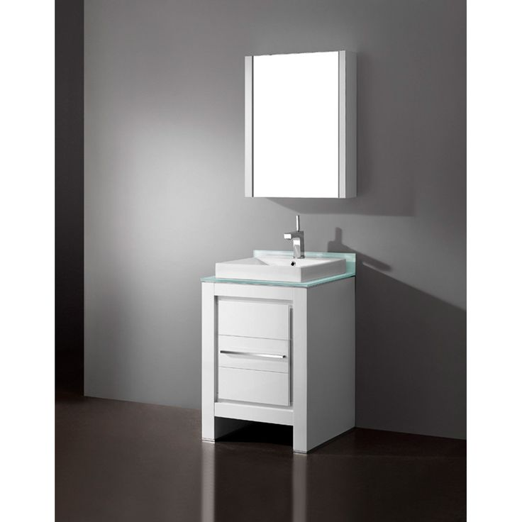 "Madeli Vicenza 24"" Bathroom Vanity - Glossy White"