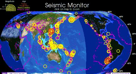 Seismic Monitor-This site offers free science tools, lessons, animations,   software and more to help students learn all about seismology,   plate tectonics, and earthquakes.