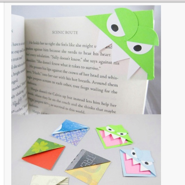 Cool bookmarks make me one pinterest cool bookmarks for Cool ways to make bookmarks