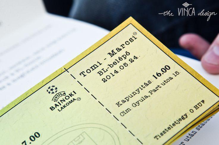 Vinca Design, football inspired wedding, wedding invitation suite, wedding stationery, info card // focis esküvő, esküvői meghívó, útmutató
