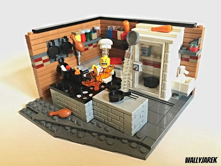 how to build a lego kitchen