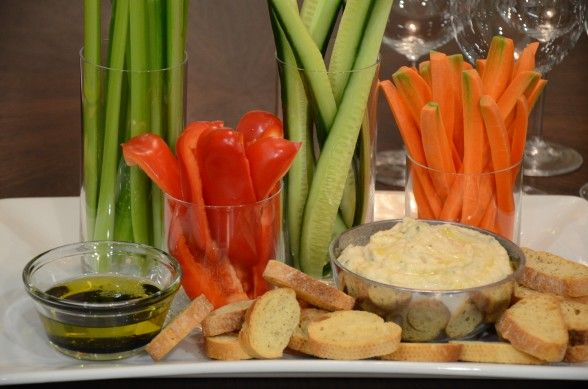 Creamy white bean dip & roasted garlic (I like the way the vegetables ...
