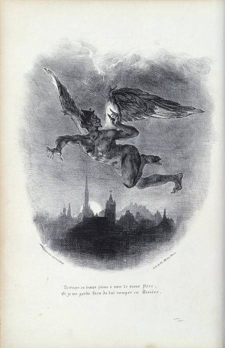 Mephistopheles in Flight (by Eugène Delacroix)