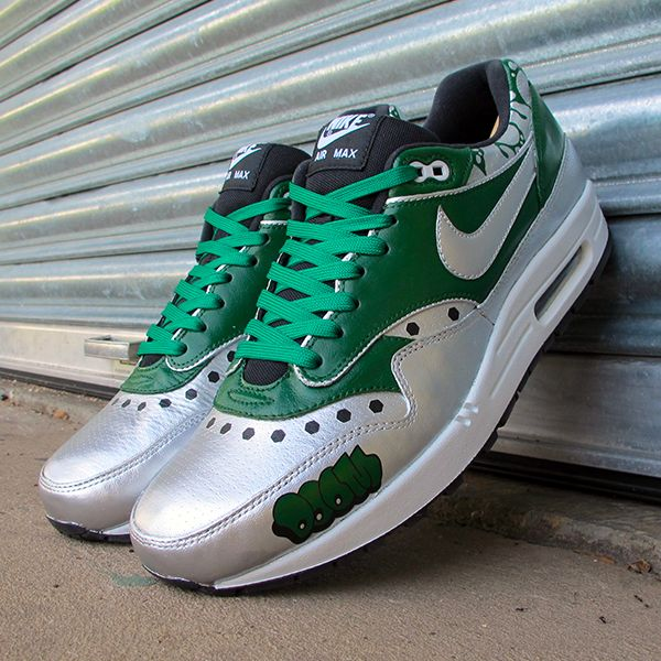 Just finished these MF Doom themed custom Nike Air Max 1s