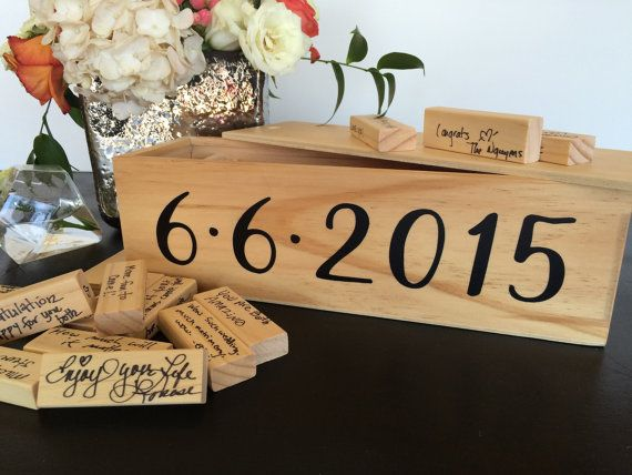 Personalized Jenga Wedding Guest Book by @MidnightConfetti via Etsy