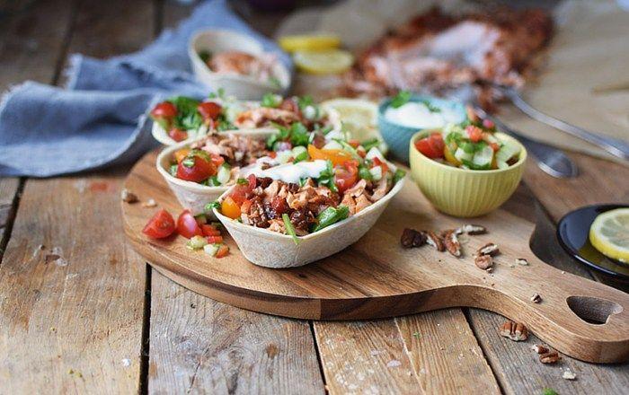 Pulled Lachs Tortillas mit frischer Salsa (Werbung)