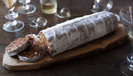 Nigella Lawson chocolate salame recipe from her Italian Christmas collection Nigellissima
