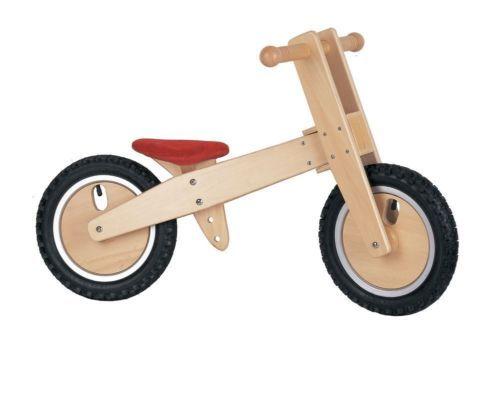 LELIN WOODEN WOOD BALANCING BALANCE BICYCLE CHILDRENS KIDS INDOOR OUTDOOR BIKE | eBay