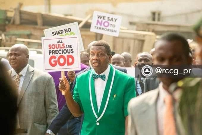 Pastor E A Adeboye Leads Protest In Lagos In 2020 Protest Pastor Insecure