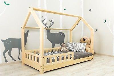 hausbett kinderhaus bett f r kinder kinderbett spielbett mit sicherheitbarrieren eni kinder. Black Bedroom Furniture Sets. Home Design Ideas
