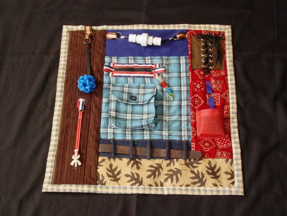 Busy Man Fidget Quilt Tactile Fun Quilt Hands And Fun