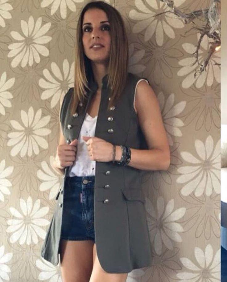 @stellameligan #fashion #blogger in #simplyfes #army #green #vest #lookbook #dailylook