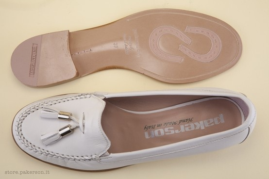 Leather Moccasins for women - Mocassini in pelle per donna. http://store.pakerson.it/woman-moccasins-21281-panna.html