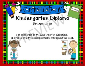 EDITABLE Kindergarten Graduation Diplomas and Ceremony Kit
