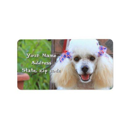 #Toy Poodle puppy address labels - #Petgifts #Pet #Gifts #giftideas #giftidea #petlovers