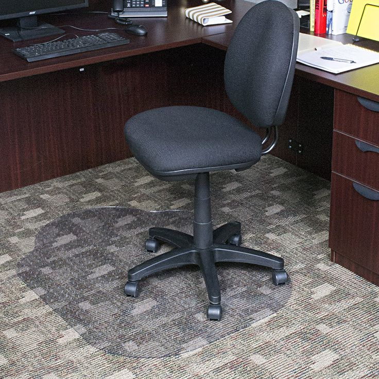 Evolve Modern Office Low Pile Carpet Beveled Edge with Lip Chair Mat