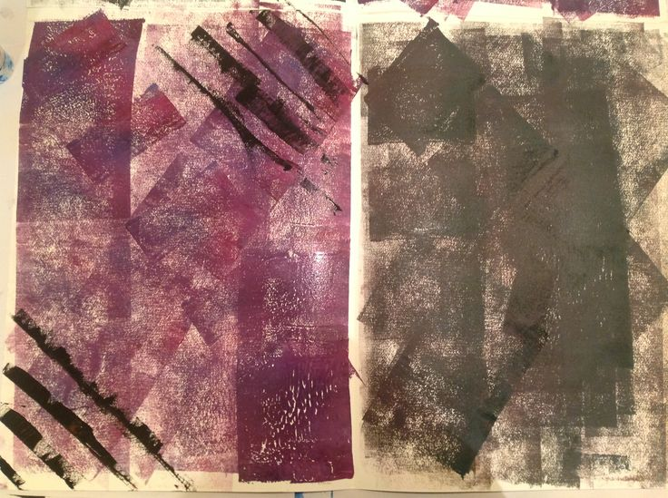 (Bottom 1/2) Rolled purple and dark green background, added black lines to the purple corners