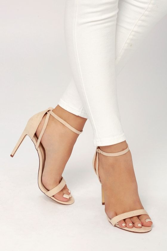 9fe72142494 Sila Nude Suede Ankle Strap Heels