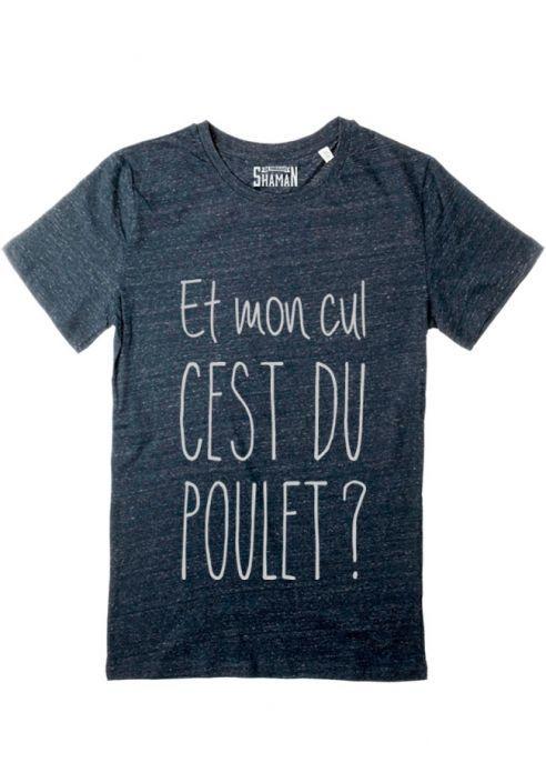 """Tee shirt """"C'est du poulet"""" pour homme Taille XL ( utilisation tee-shirt de pyjama) Expression très utilisée par mon homme !!!!!"""