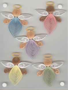 """Provo Craft Standouts Quilled Stickers """"Angels"""" 5 Pcs Christmas Sealed 