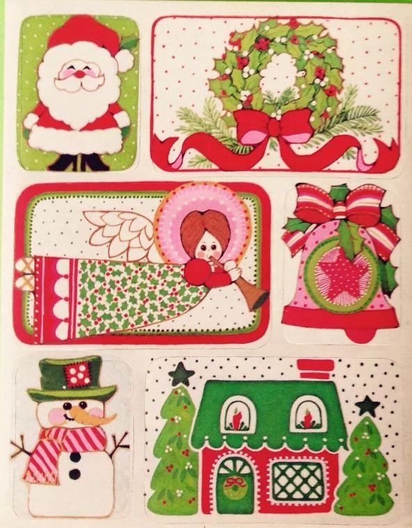 Vintage Christmas Stickers Retro Christmas Vintage Christmas Christmas Pictures Vintage