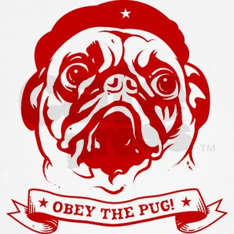 Pug Revolution! Icon White T-shirt