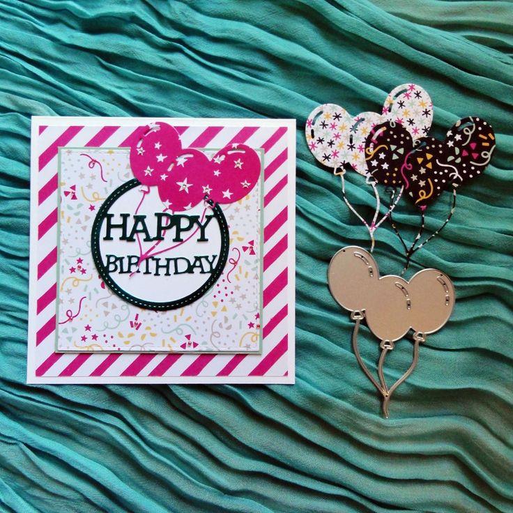 shopaperartz BUNCH OF BALLOONS BIRTHDAY CUTTING DIE FITS SIZZIX CUTTLEBUG