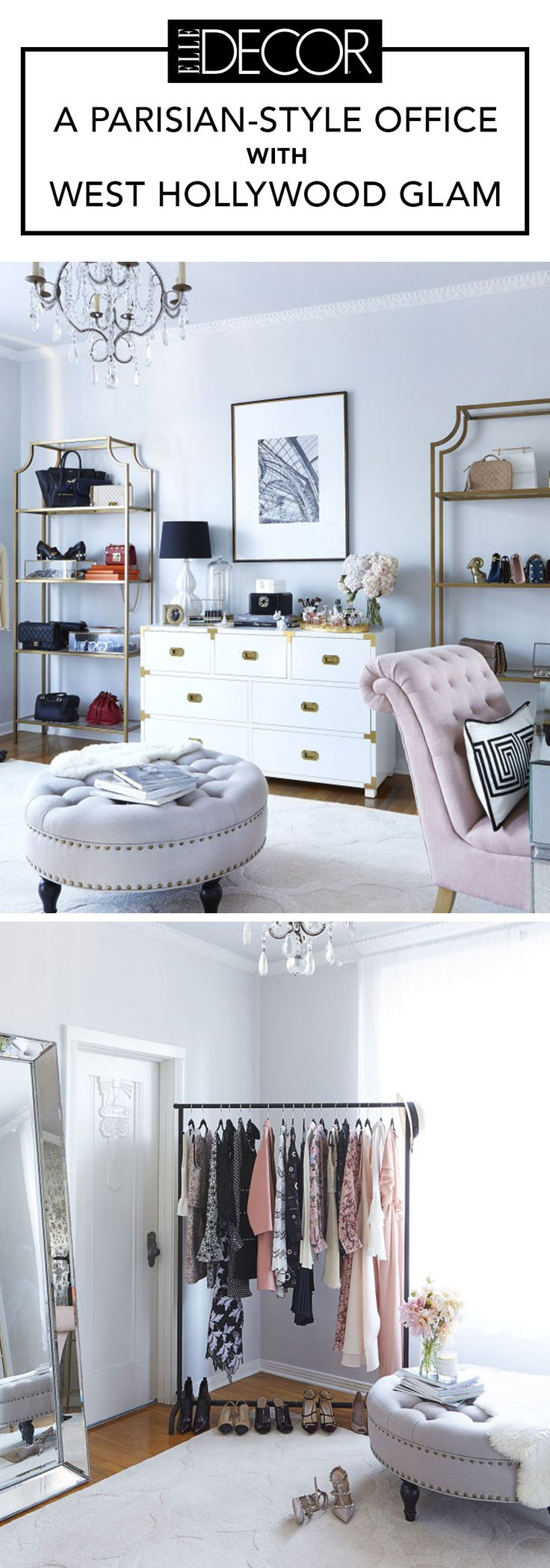 Office Envy A Soft Romantic Space Inspired By Paris Old Hollywood Bedroomold