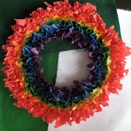 3-D Rainbow Wreath for St. Patrick's Day