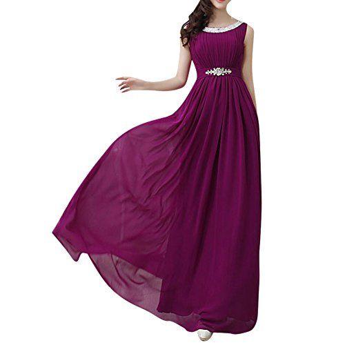 YOUR GALLERY Damen Diamanten Strahleneinschnürung Langes Kleid