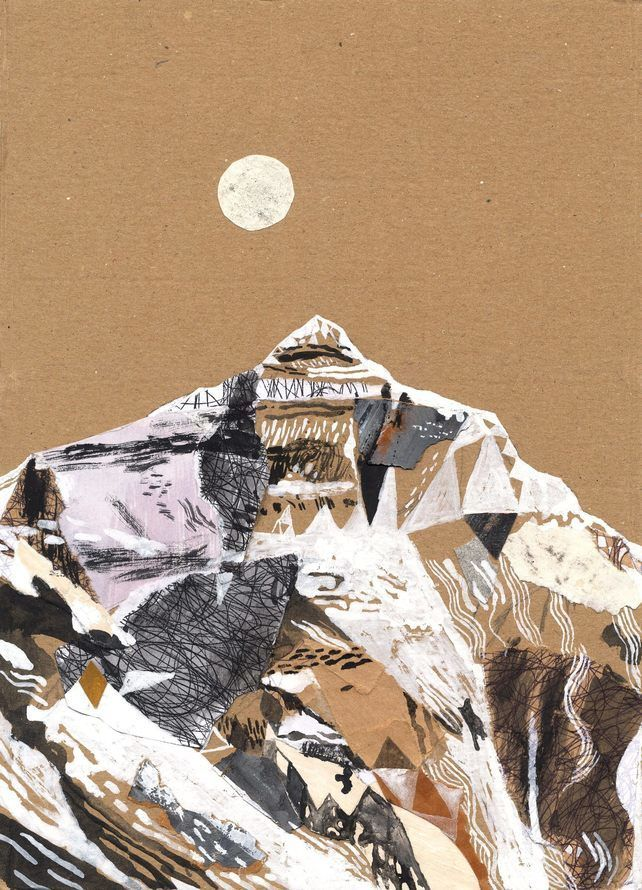 Illustration art print Mount Everest A3 Print (11.69 in x 16.54 in)