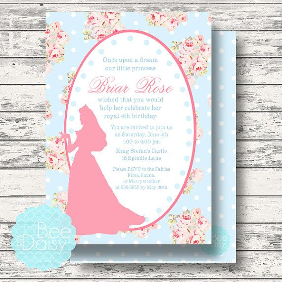 206 best images about Aurora Sleeping Beauty Party Ideas – Sleeping Beauty Party Invitations