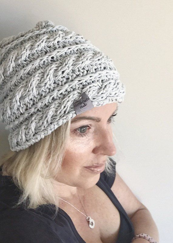 f47598b2daa84d CABLE RIPPLE HAT cotton hat | modern hat | beanie | gift for her | all  seasons hat | handmade hat