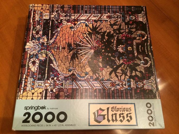 SPRINGBOK GLORIOUS GLASS Jigsaw Puzzle 2000 pc #Springbok