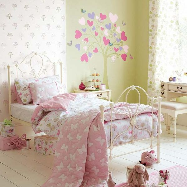 Wunderschönes Kinderzimmer Für Mädchen In Rosa (600×