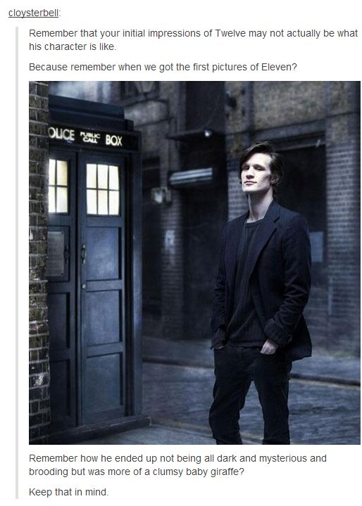 12th Doctor...just to keep in mind.