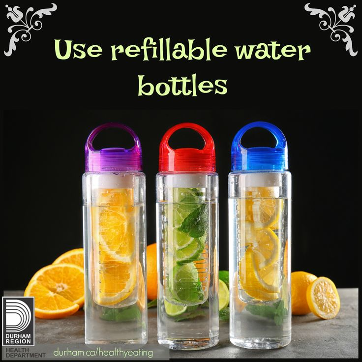 Water is the best way to quench your thirst. Sugary drinks often replace healthier choices such as vegetables, fruit and milk that children need to grow and be healthy. When you pack a refillable water bottle, you can fill it up whenever you are thirsty!