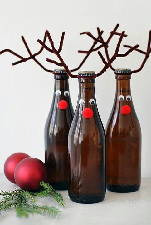 Rentiere aus Bierflaschen