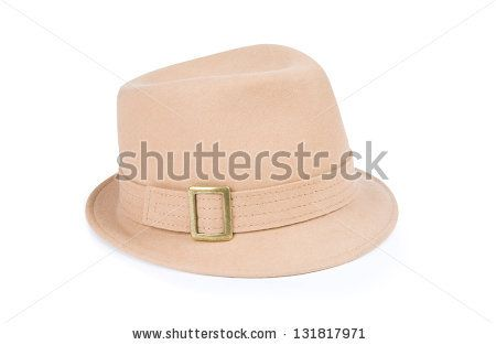 beige hat isolated on white background