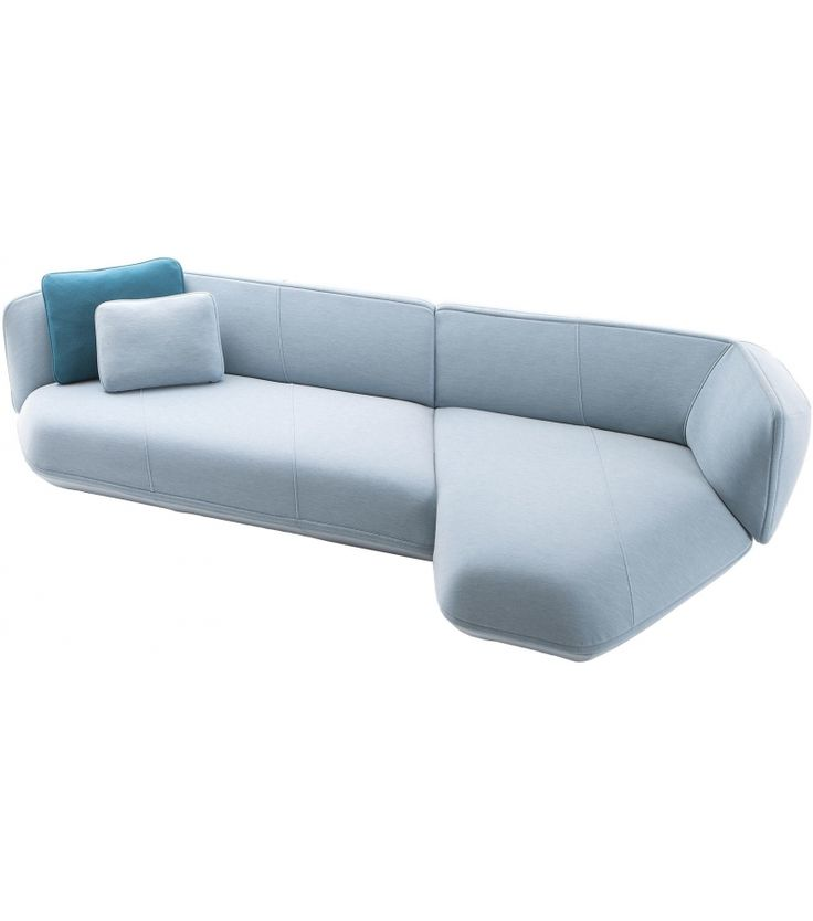 552 Floe Insel Cassina Sofa 552 Floe Insel designed by Patricia Urquiola for Cassina is a sofa available in the fixed version or modular configutation. Available elements to be used individually are the three seater sofa and the pouf. The chaise longues and terminal elements are joinable one to the other. The cushions are optional. Removable cover in fabric or leather. Feet in black painted aluminum.