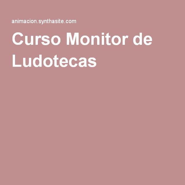 Curso Monitor de Ludotecas. #cursoludotecas #monitordeludotecas #maestros #educadorinfantil #educacioninfantil