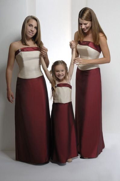 Red And Ivory Bridesmaid Dresses