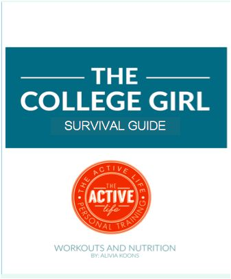 College Girl Survival Guide: Why bother with the freshman 15 when you can put into practice these healthy lifestyle habits?! Make your college experience the beginning of a happy healthy lifestyle