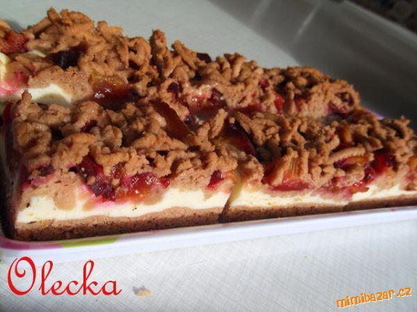 Tvarohovo-švestkový koláč