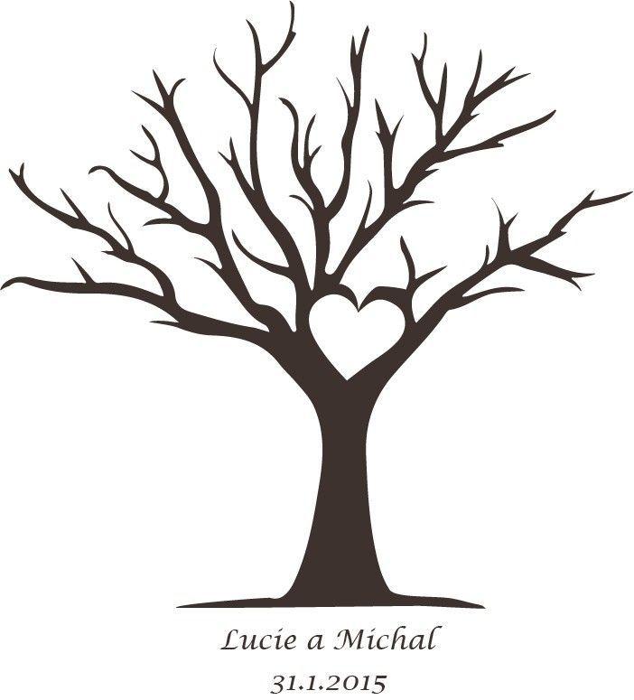 Fingerabdruck Baum Vorlage Herz Stamm Drucken