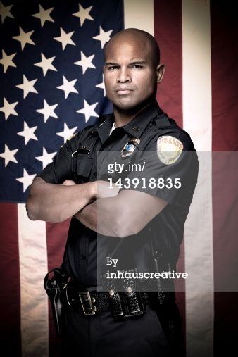 portrait of a police officer this stock image has a