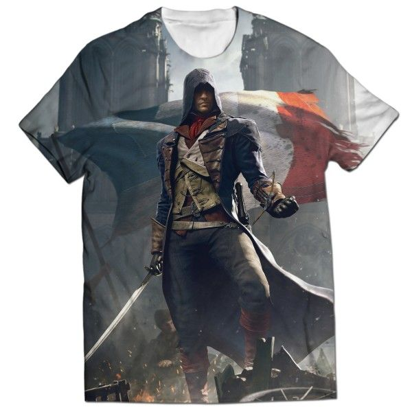 ASSASSINS CREED UNITY ARNO DORIAN ALL OVER PRINTED T-SHIRT Visit: http://www.thewarehouse.pk/assassins-creed-unity-arno-dorian-all-over-printed-t-shirt-14514