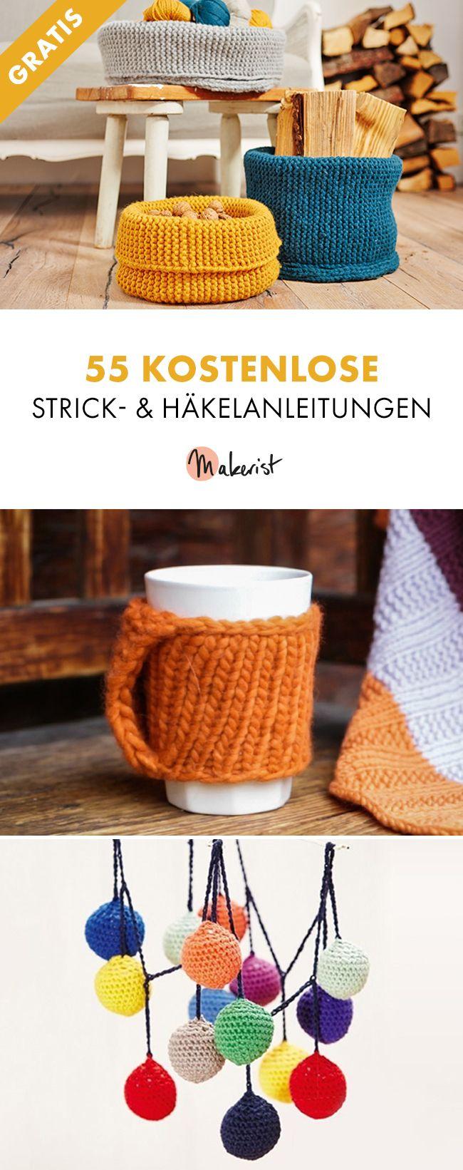 55 kostenlose Strick- und Häkelanleitungen via Makerist Magazin #Makerist #strickenmitMakerist #häkelnmitMakerist #stricken