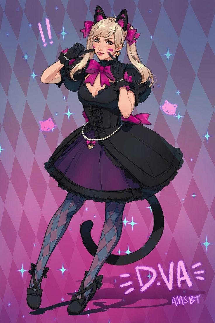 New D.va Black Cat Skin art