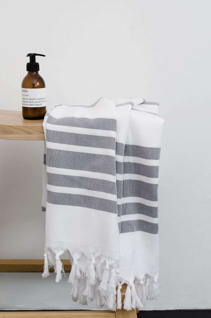 A Pestemal (or Peshtemal) is a traditional towel that originated in Turkey about 600 years ago and they are still made there today using hand-looms. It is made from 100% cotton and flat-woven, maki…